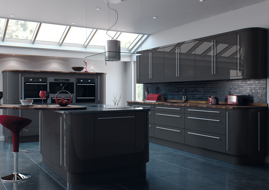 Shipley Kitchens Yorkshire Luxury Kitchens Made In UK - Dark grey kitchen units